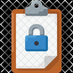 Clipboard lock Icon