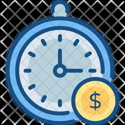 Clock Colored Outline Icon