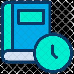 Clock Book Icon