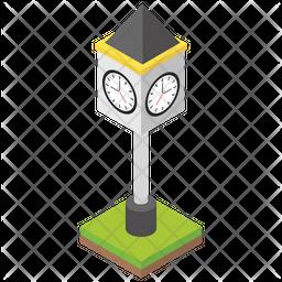 Clock Lamp Post Icon