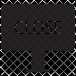 Close Signboard Icon