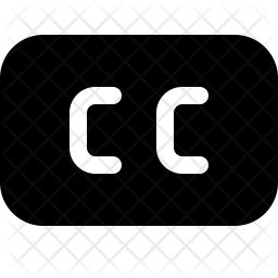 Closed captions Icon