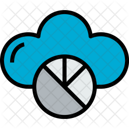 Cloud Colored Outline Icon