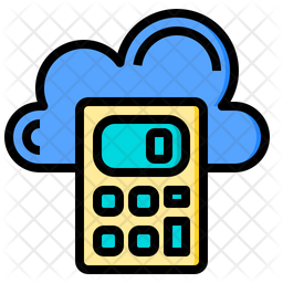 Cloud Accounting Icon