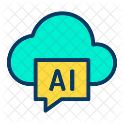 Cloud Ai Icon Of Colored Outline Style Available In Svg Png Eps Ai Icon Fonts