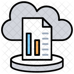 Cloud Analysis Colored Outline Icon