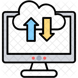 Cloud Backup System Icon