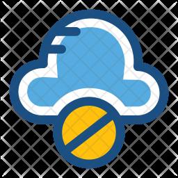 Cloud Blocked Icon