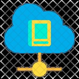 Cloud Book Flat Icon