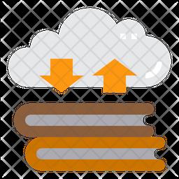 Cloud Book Storage Icon