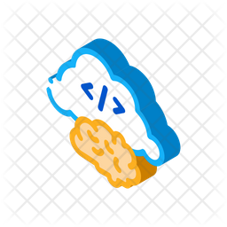 Cloud Brain Icon Of Isometric Style Available In Svg Png Eps Ai Icon Fonts