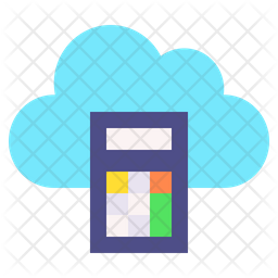 Cloud Calculator Icon