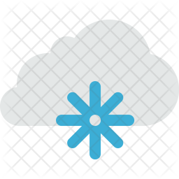 Cloud, Clouds, Cloudy, Cold, Freeze, Snow, Weather Icon