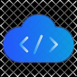 Cloud Coding Gradient Icon