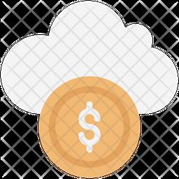 Cloud Coin Icon