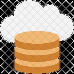 Cloud Coins Icon