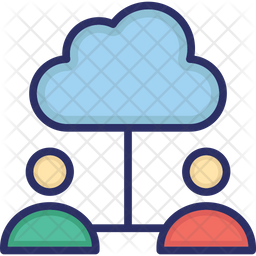 Cloud Computing Icon of Colored Outline style - Available in