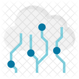 Cloud Computing Flat Icon