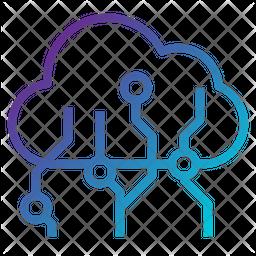 Cloud Computing Line Icon