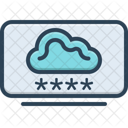 Cloud Computing Login Icon