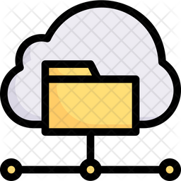 Cloud Data Collection Colored Outline Icon