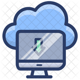 Cloud Data Download Icon
