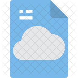 Cloud Data File Icon