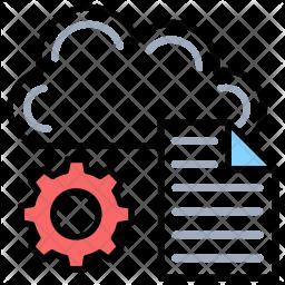 Cloud Data Management Icon