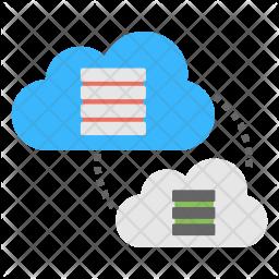 Cloud Data Migration Icon