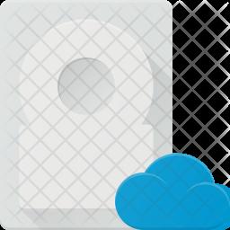 Cloud data synchronize in harddisk Icon