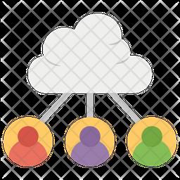 Cloud Data User Icon