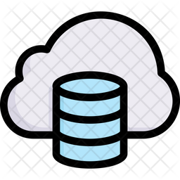 Cloud Database Colored Outline Icon