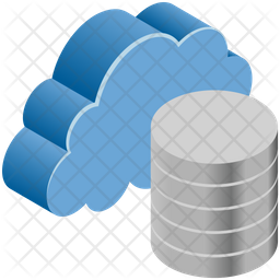 Cloud Database Isometric Icon