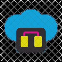 Cloud Database Flat Icon
