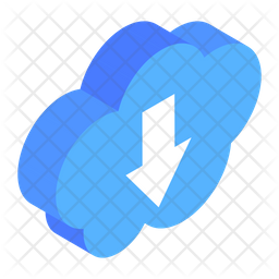 Cloud Download Isometric Icon