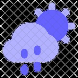 Cloud-drizzel Icon
