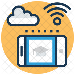 Cloud Education Icon