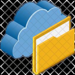 Cloud Folder Isometric Icon