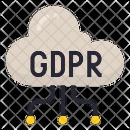 Cloud GDPR Icon