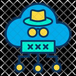 Cloud hacker Icon