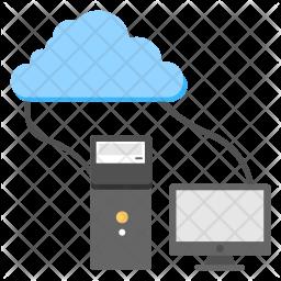 Cloud Hosting Flat Icon