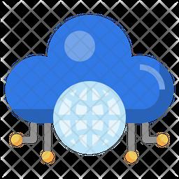 Cloud Internet Flat Icon