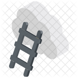 Cloud Ladder Icon
