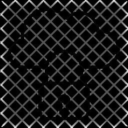 Cloud Lock Line Icon