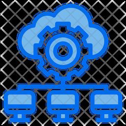 Cloud Maagement Dualtone Icon