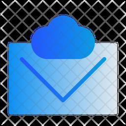 Cloud Mail Gradient Icon