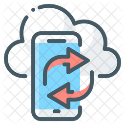 Cloud Mobile Syncing Icon