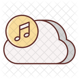 Cloud Music Icon Of Colored Outline Style Available In Svg Png Eps Ai Icon Fonts