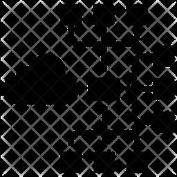 Cloud Network Glyph Icon
