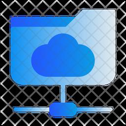 Cloud Network Gradient Icon